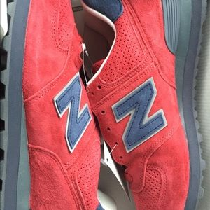 New Balance 574 Gym Red Navy size 12